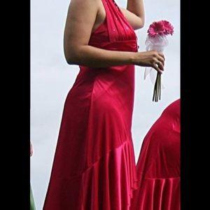 Red magenta evening dress size L